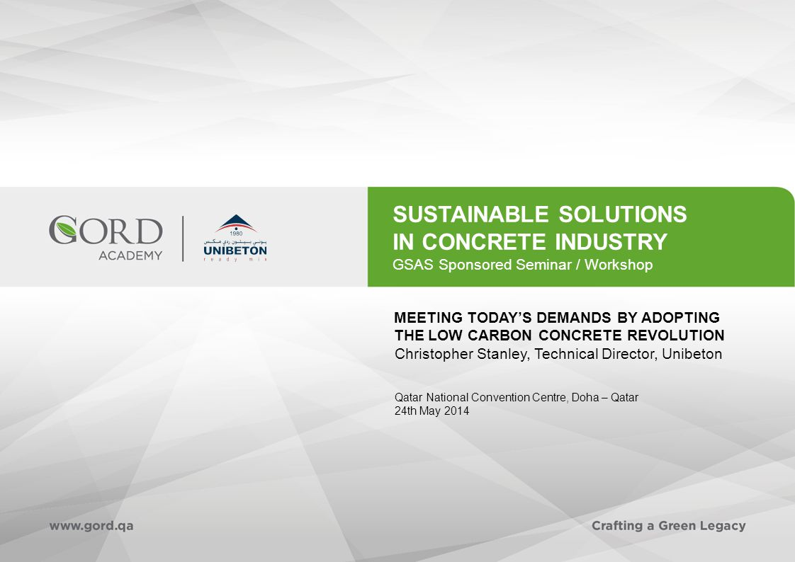 Sustainable Solutions in Concrete Industry 22 Particle packing – voids content (1)