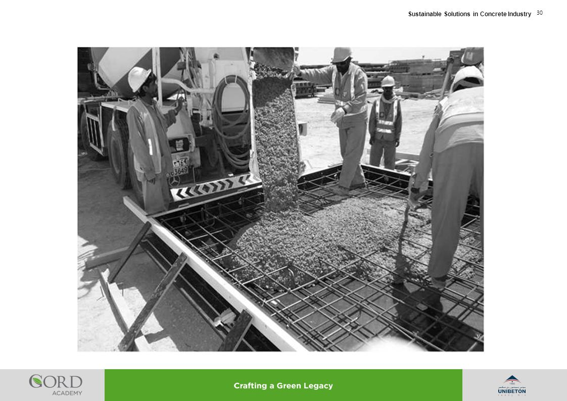 Sustainable Solutions in Concrete Industry 30