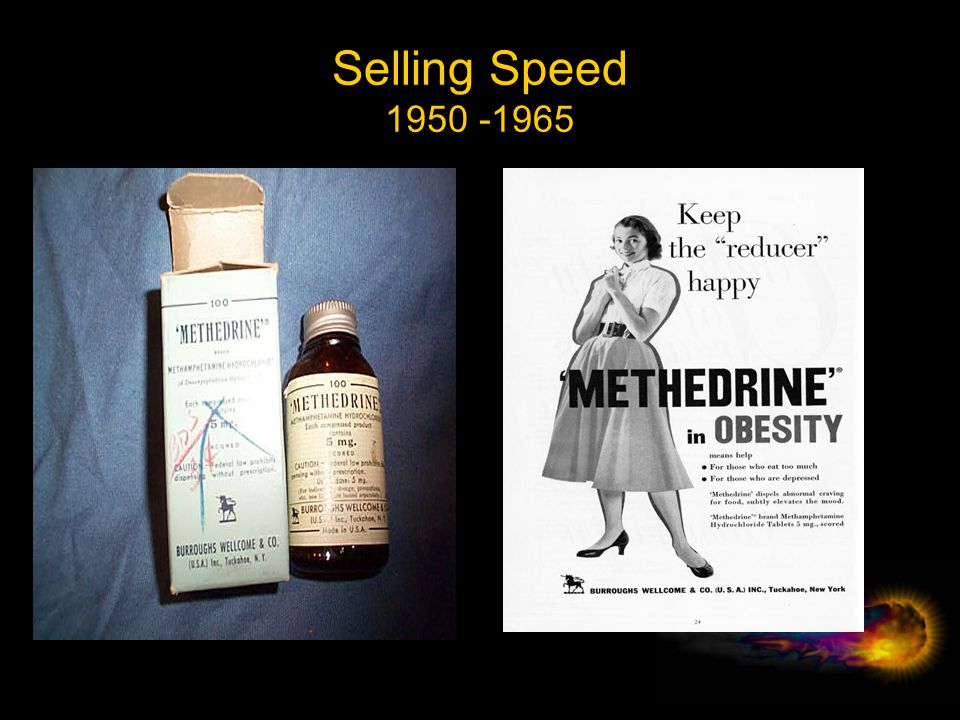 A Brief History – II 1950 - 1970 1951 Prescriptions required by federal law for amp containing products 1958 ~3.5 billion tablets of legal amp tablets produced 1959 First injection of Benzedrine extracted from inhaler reported 1959 OTC Benzedrine inhalers withdrawn from the market 1960 First OTC methamphetamine inhaler hits the market 1962 Early reports of illicit domestic production by biker gangs 1965 Federal law requires prescriptions required for meth products 1965 OTC Methamphetamine inhalers withdrawn from the market 1967 31 million prescriptions written -- most to women 1970 ~10 billion tablets of legal amp/meth tablets produced