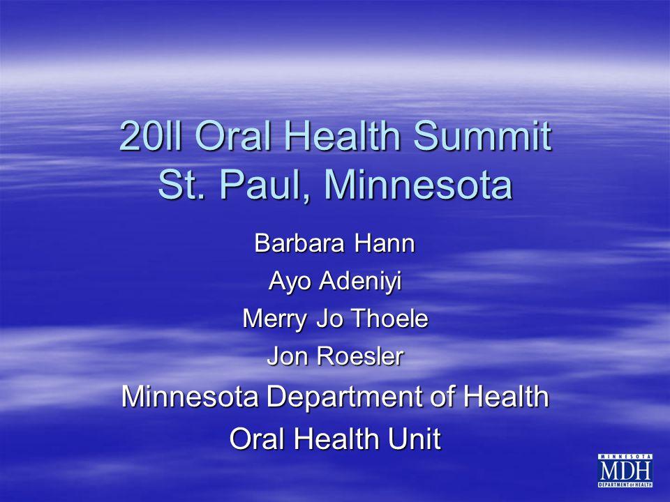 20ll Oral Health Summit St.