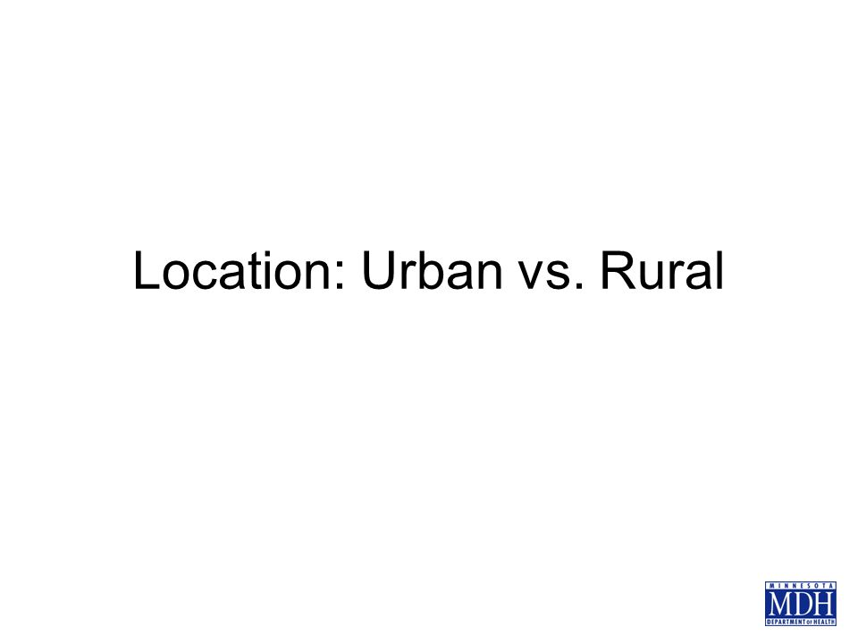 Location: Urban vs. Rural