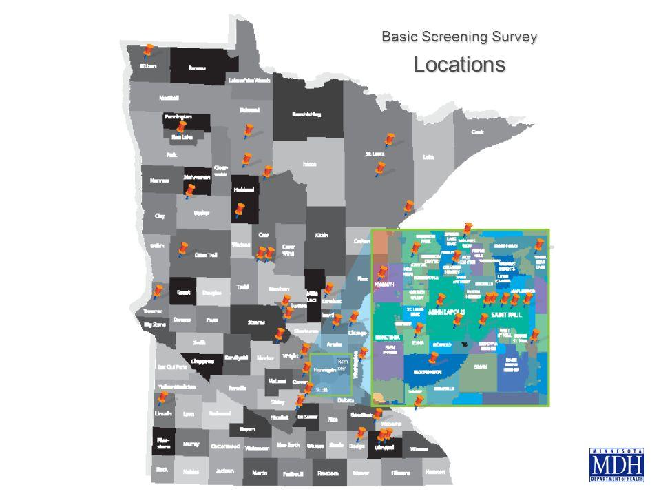 Basic Screening Survey Locations