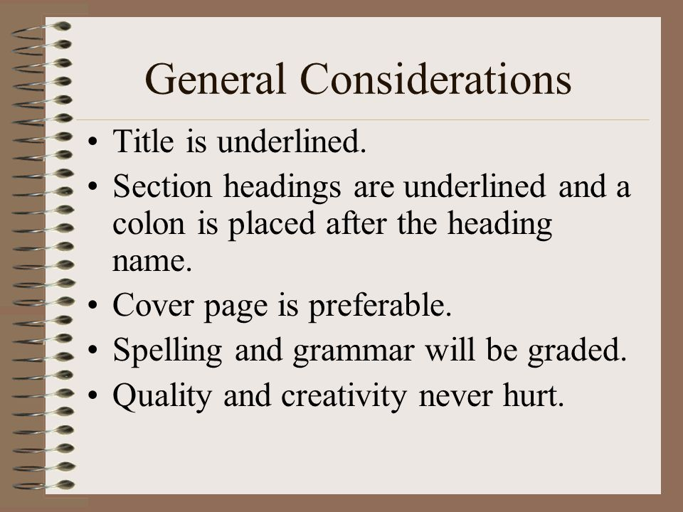 General Considerations Title is underlined.