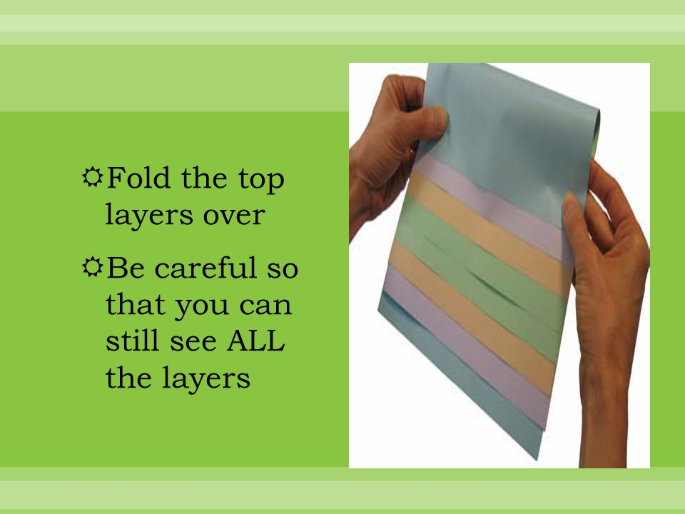 Fold the papers and crease well  Then staple along the top