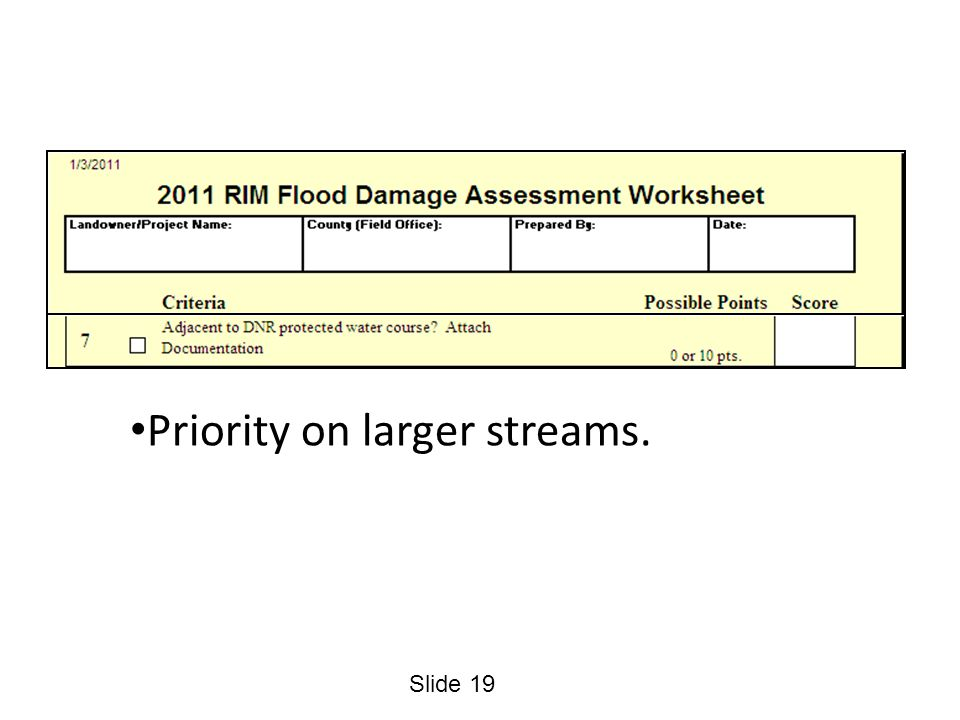 Slide 19 Priority on larger streams.