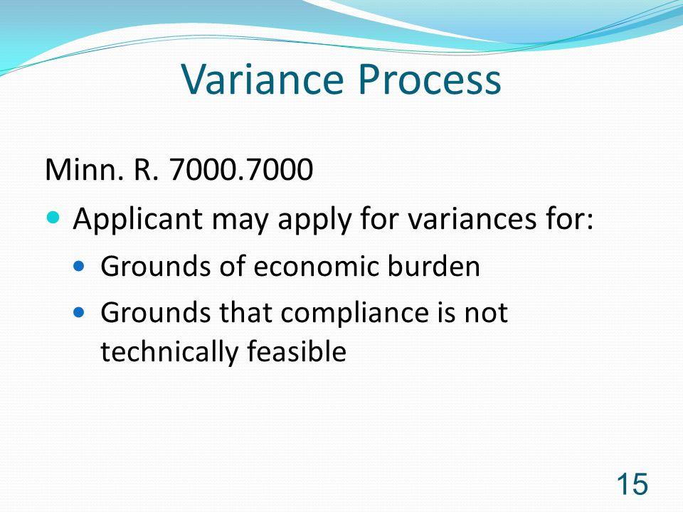 Variance Process Minn. R.