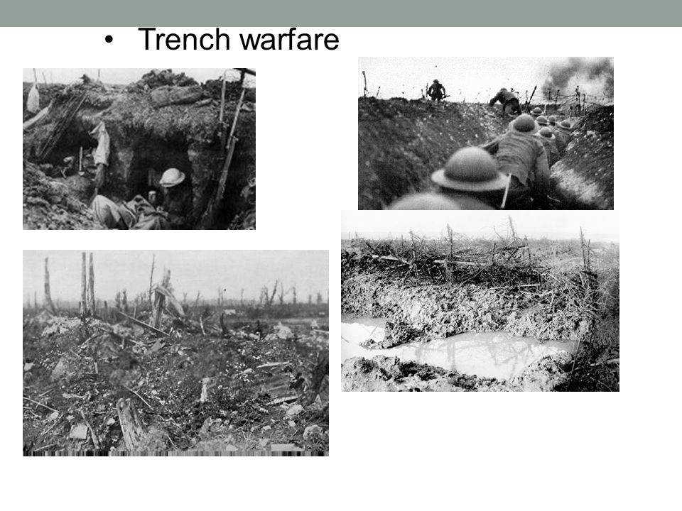 World War I Warfare Techniques Goals: 1. To understand the methods of fighting in World War I. 2. To analyze the impact fighting methods had on the wa