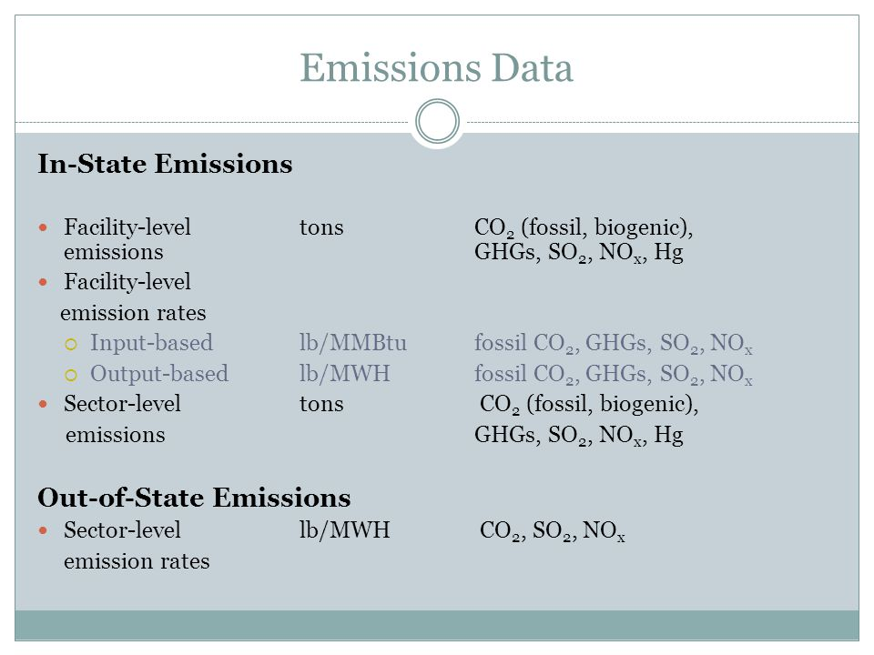 EGU Rules Database Uses Ground-truthing of IPM 2015 and 2020 base case output (emissions, emission rates, capacities, dispatch, import dependence) Evaluation of different data sources for purposes of standard setting and compliance Evaluation of the implications for stringency of control of different baseline years and different types of standards, e.g, input-based, output-based, cap and trade with rate equivalency