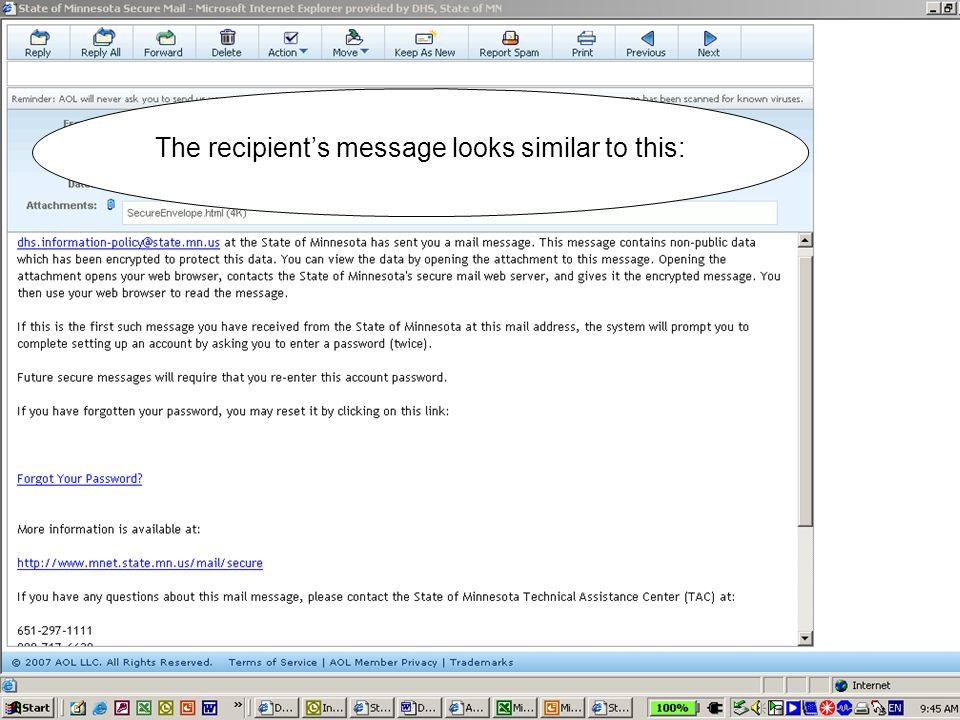 The recipient clicks to open the attachment.