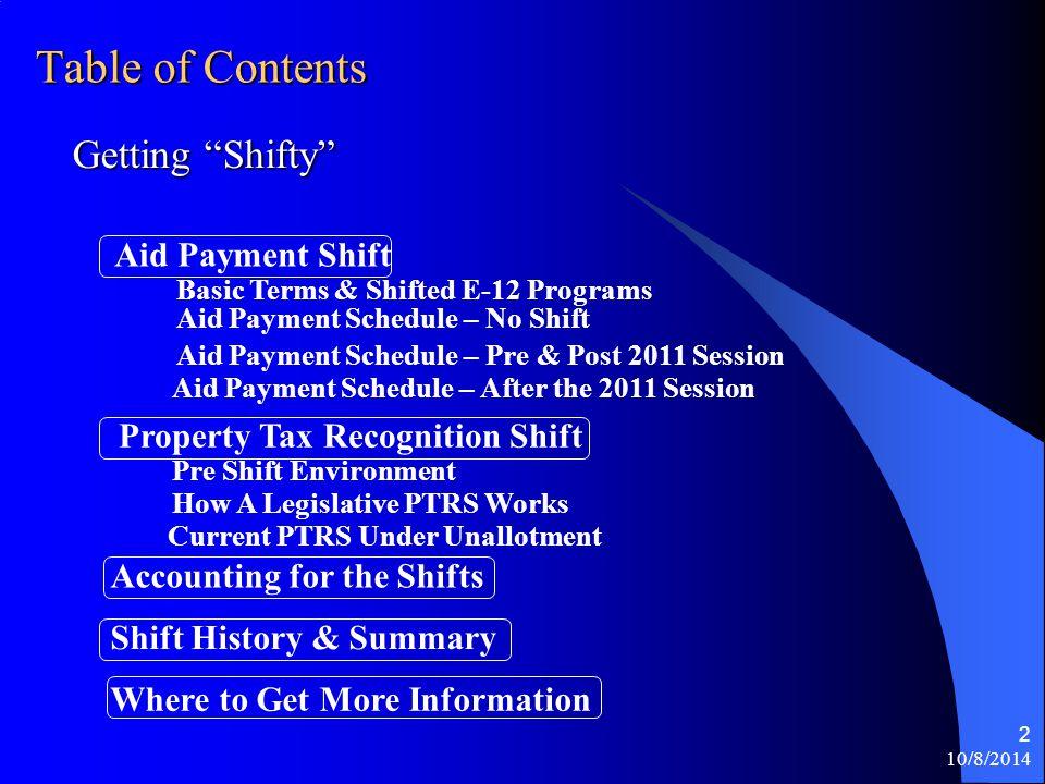 10/8/2014 1 E-12 Education Finance Shift Discussion Eric L. Nauman, Fiscal Analyst 296-5539
