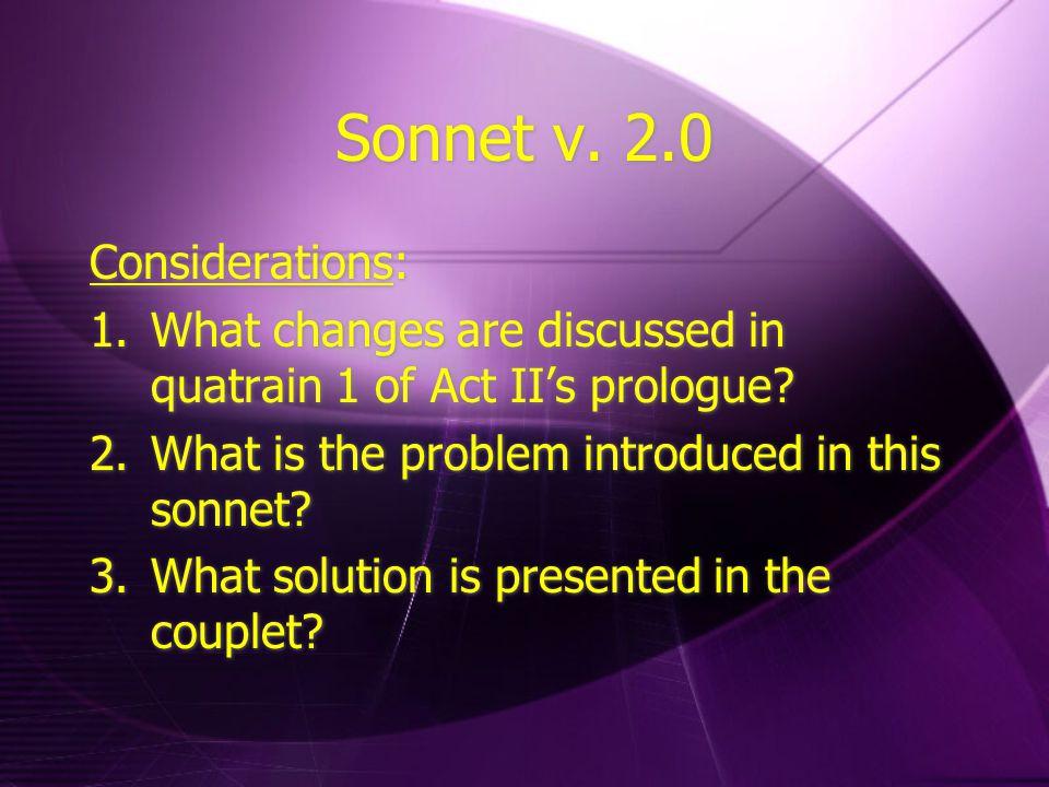 Misquoted Considerations: Examine Romeo's speech in Act II ii.