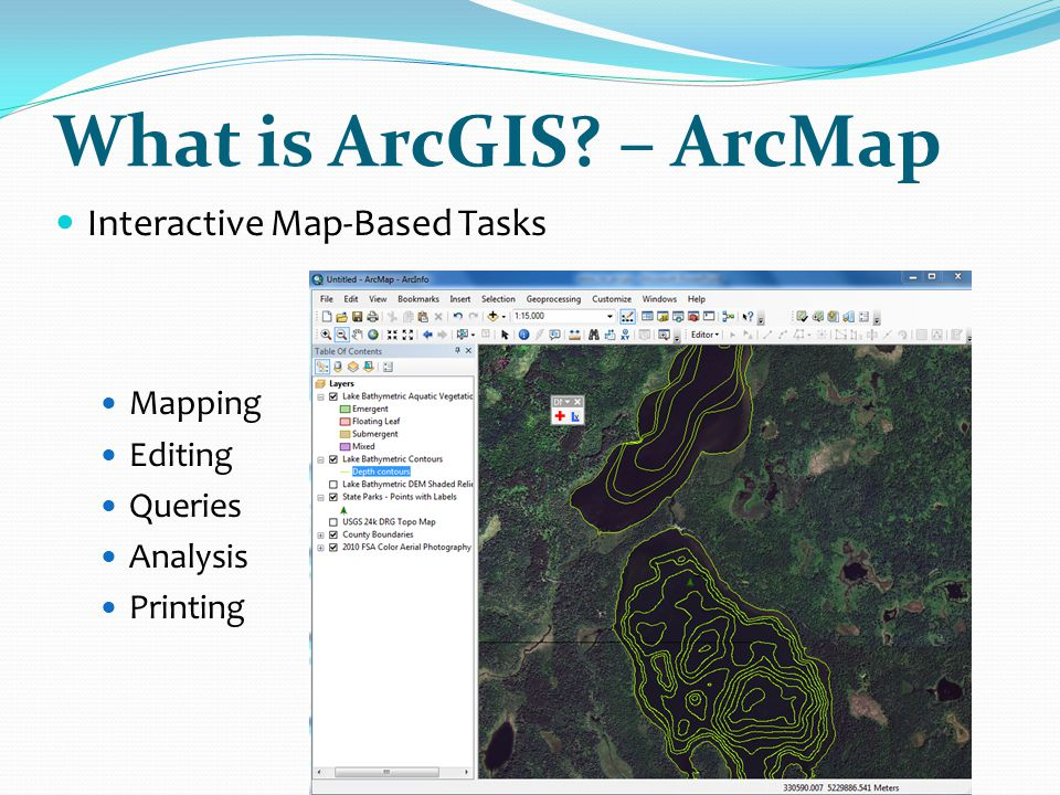 Labels, Annotation and Graphics  Geodatabases are:  A file type in ArcGIS  Collection of geographic datasets of various types all under one folder such as  Tables  Feature Classes (points, lines, polygons, annotations, dimension, multi-patches, multi-points)  Raster datasets  Non-spatial data
