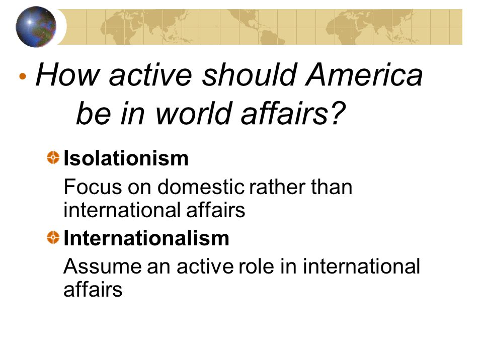 What determines U.S.Foreign Policy.
