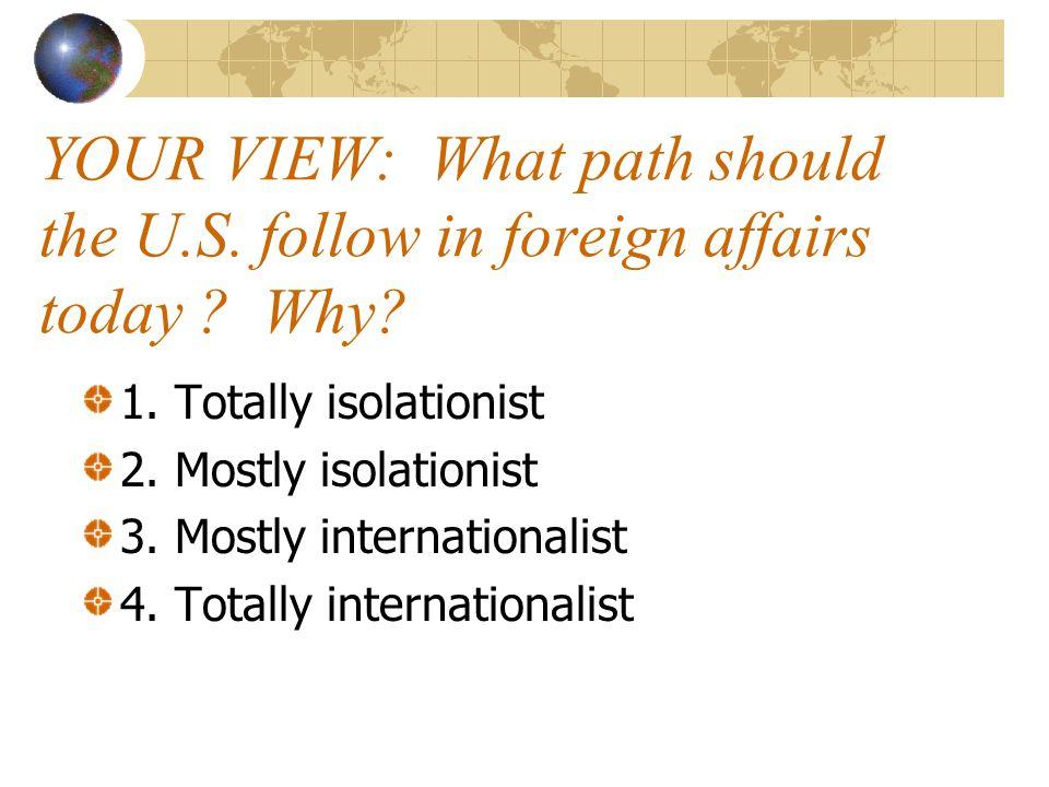 Isolationist or Internationalist.
