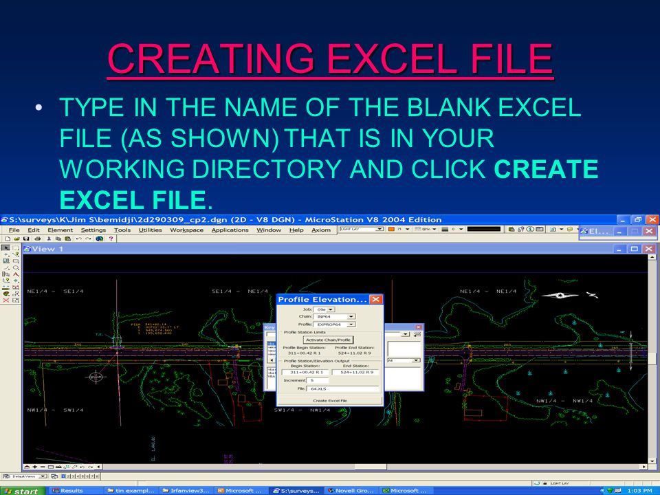 CREATING EXCEL FILE TYPE IN THE NAME OF THE BLANK EXCEL FILE (AS SHOWN) THAT IS IN YOUR WORKING DIRECTORY AND CLICK CREATE EXCEL FILE.