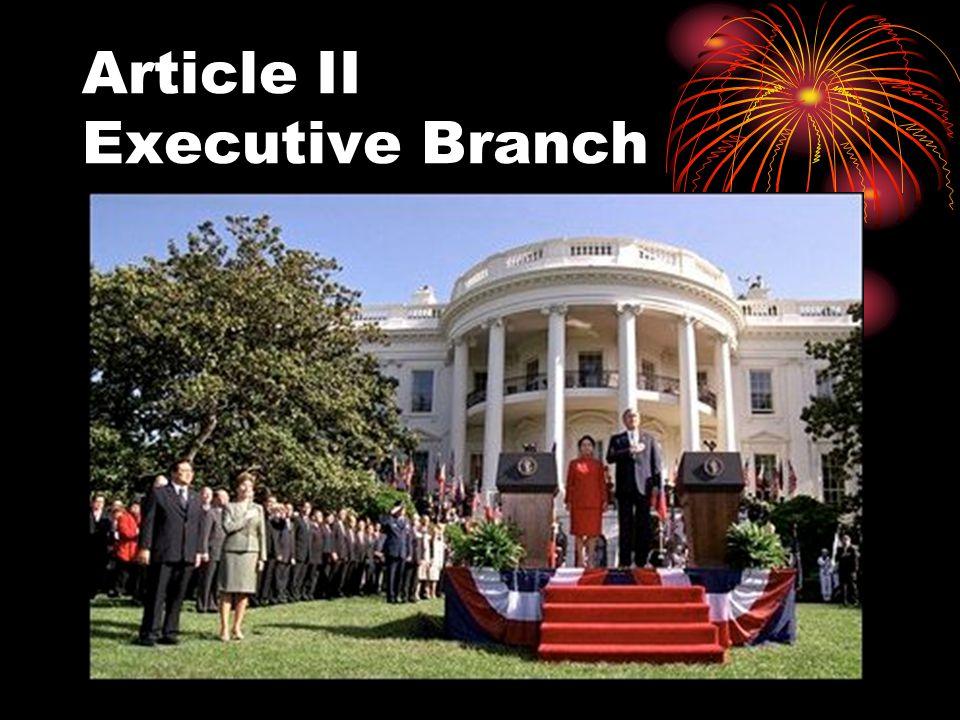 Article II Executive Branch