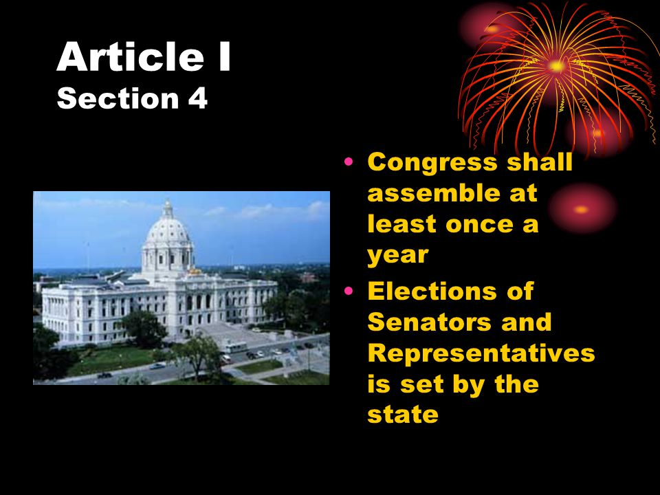 Article I Section 5 The House and the Senate each monitor the elections of their own members.