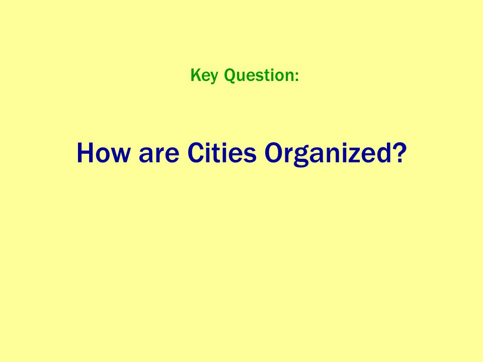 Zones of the City Central business district (CBD) Central City (the CBD + older housing zones) Suburb (outlying, functionally uniform zone outside of the central city)