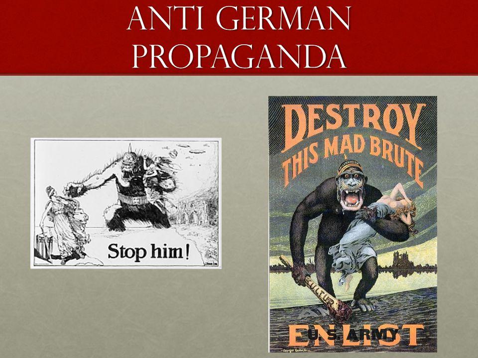 Anti German Propaganda