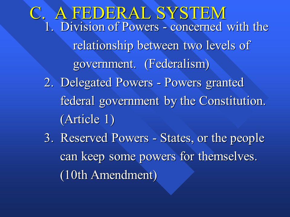 C.A FEDERAL SYSTEM 1.