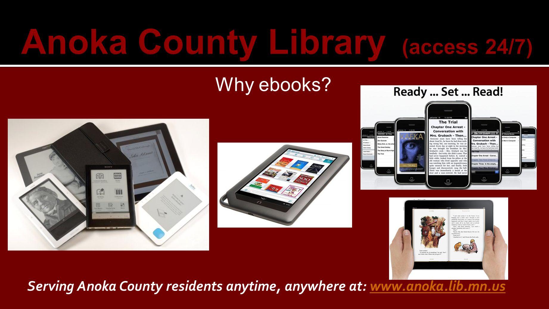 Why ebooks.