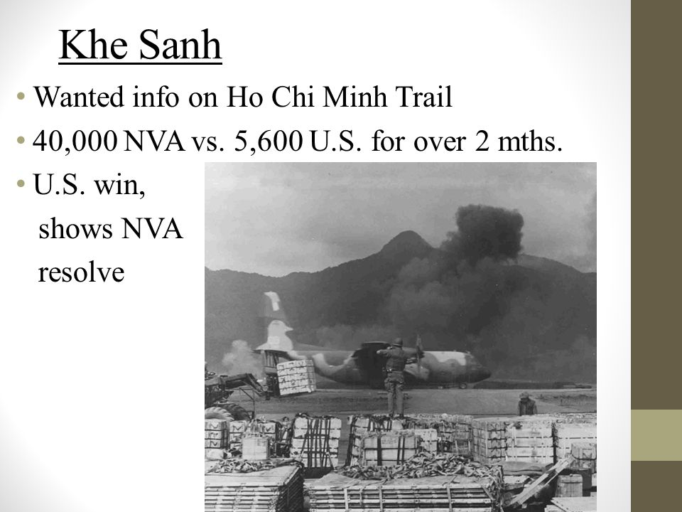 Khe Sanh Wanted info on Ho Chi Minh Trail 40,000 NVA vs.