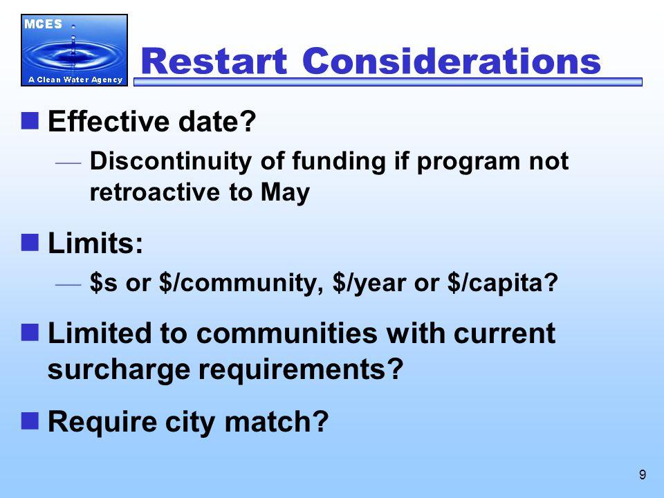 9 Restart Considerations Effective date.
