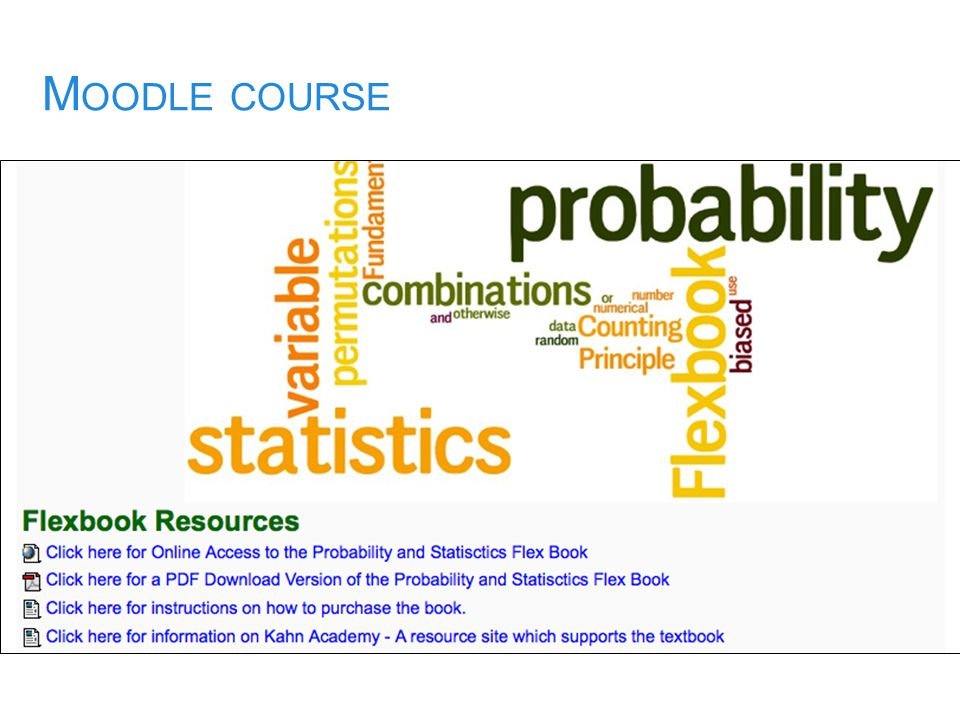 M OODLE COURSE