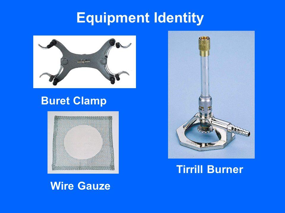 Equipment Identity Buret Clamp Wire Gauze Tirrill Burner