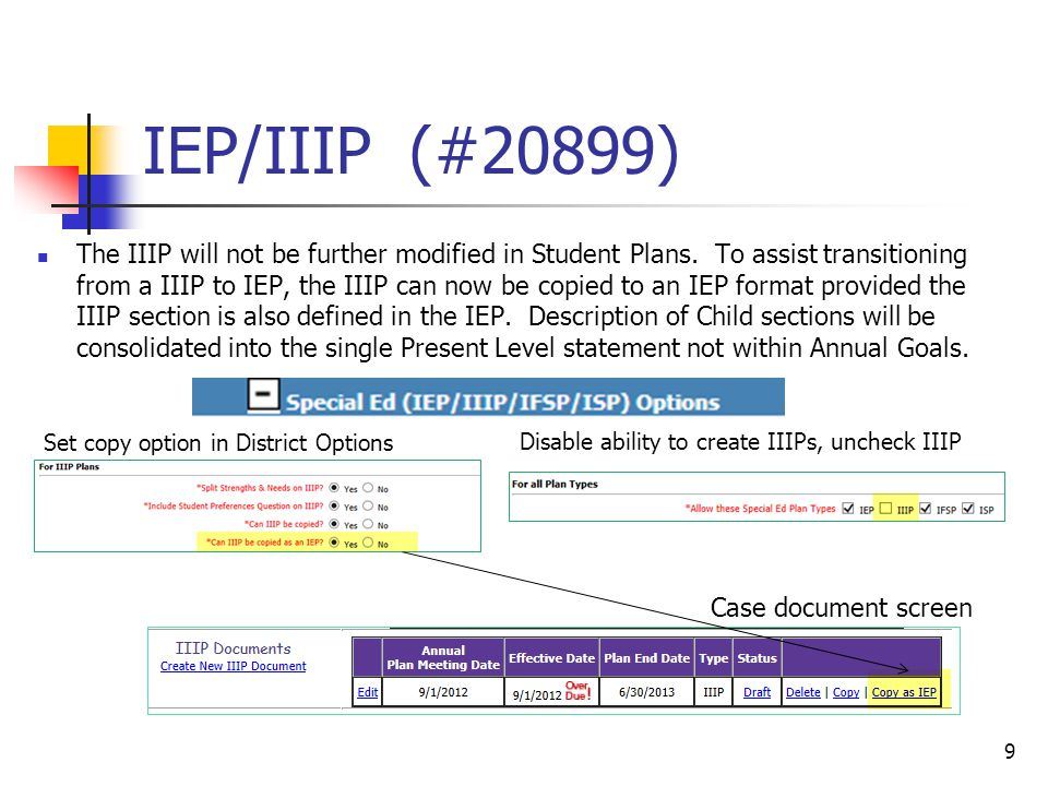 IEP/IIIP (#20899) The IIIP will not be further modified in Student Plans.