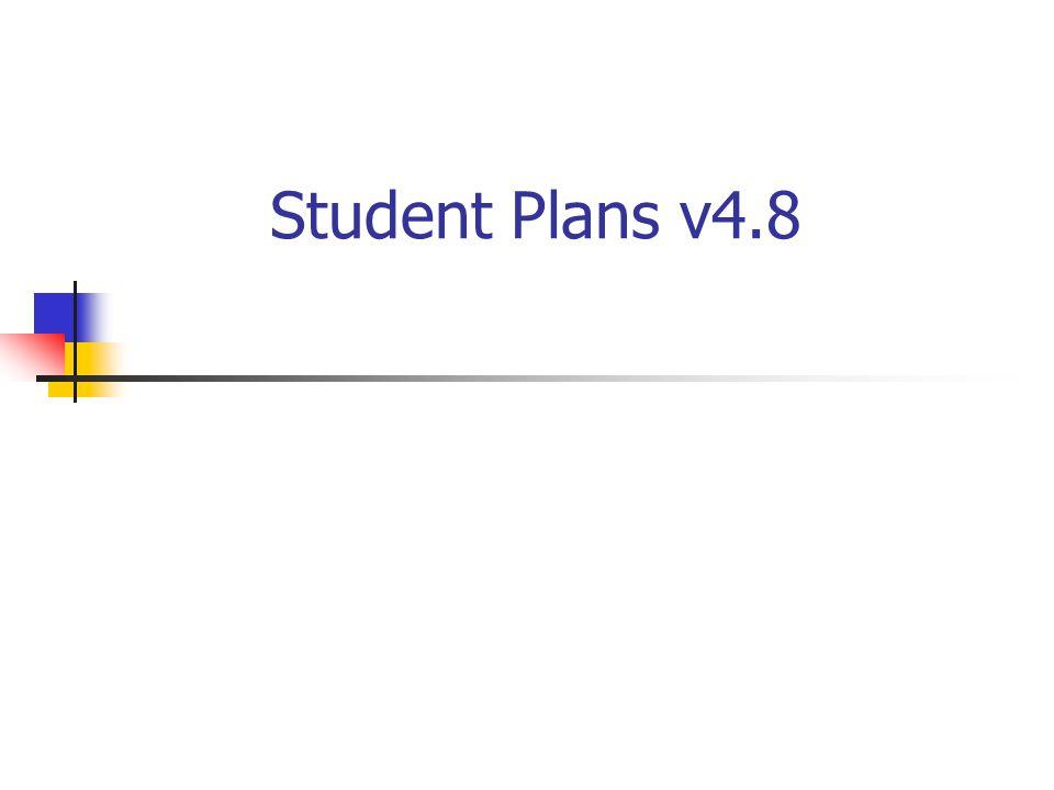 Student Plans v4.8
