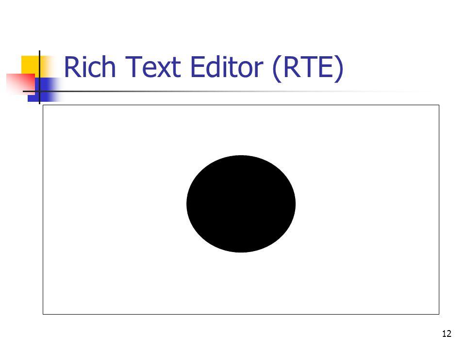 Rich Text Editor (RTE) 12