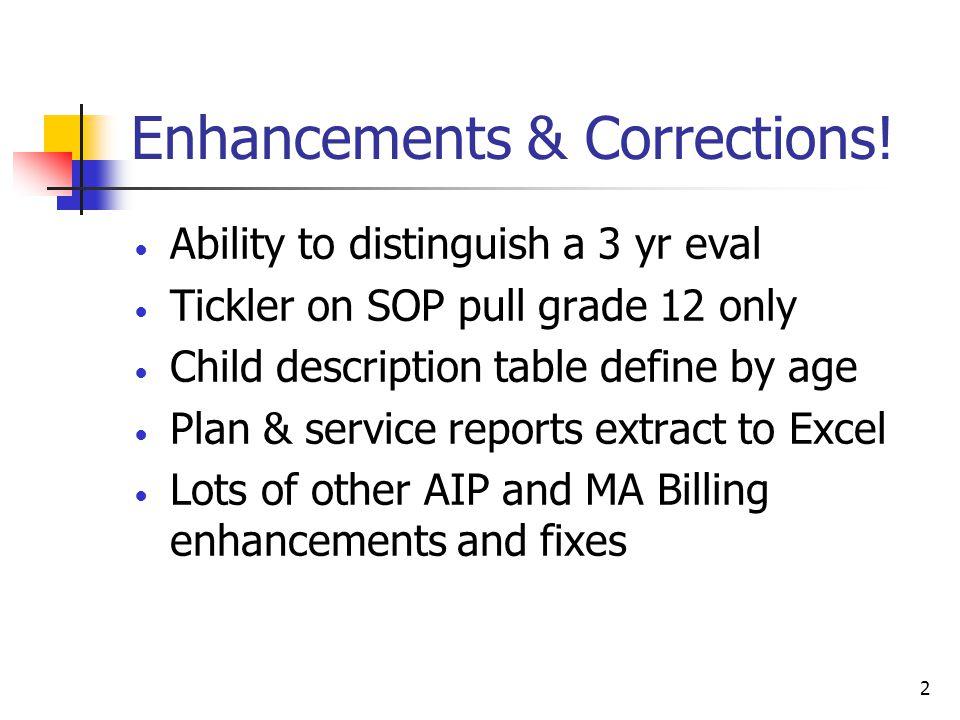 2 Enhancements & Corrections.