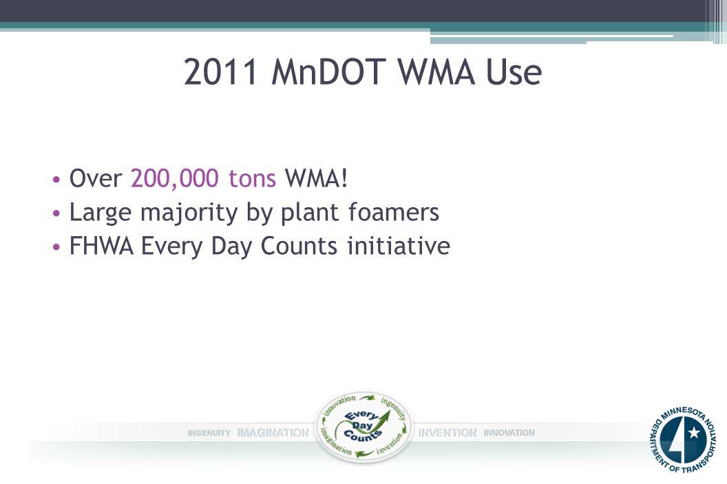 2011 MnDOT WMA Use Over 200,000 tons WMA.