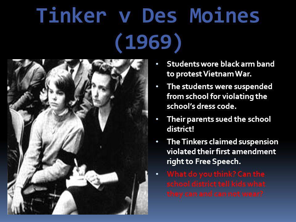 Court Room Decisions  Tinker v.