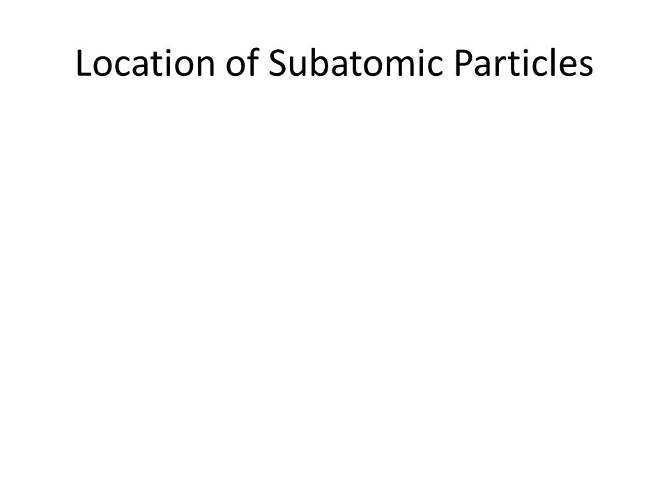 Location of Subatomic Particles