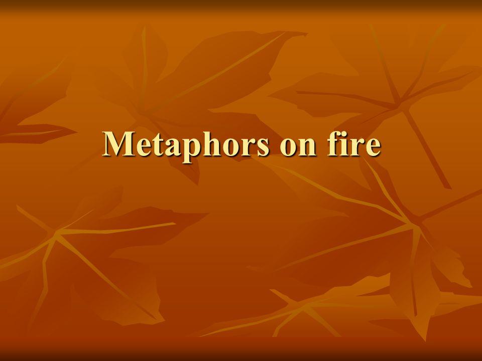 Metaphors on fire