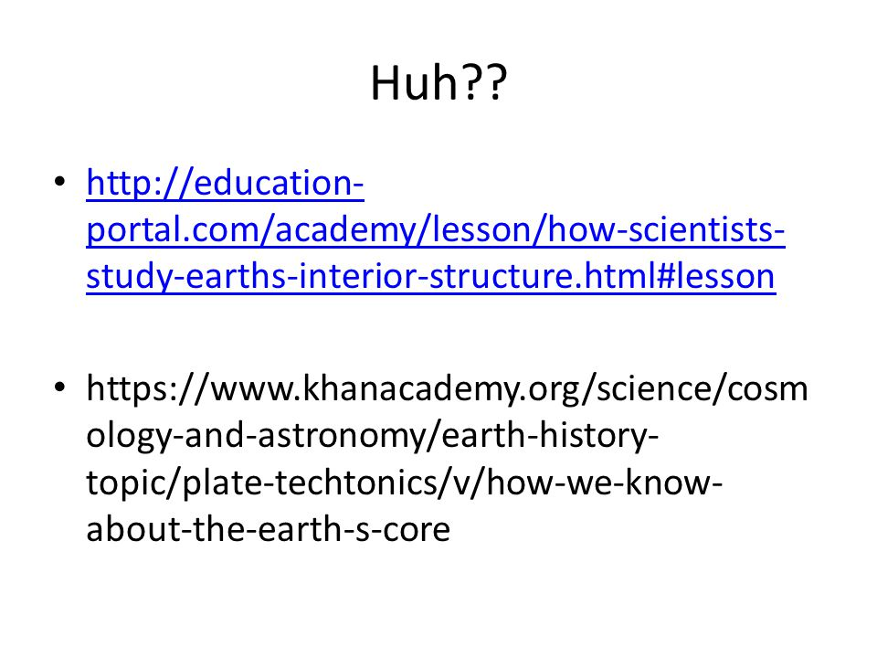 Day 2- 1/9/14 Science starter: How did each of these come to be on the earth.