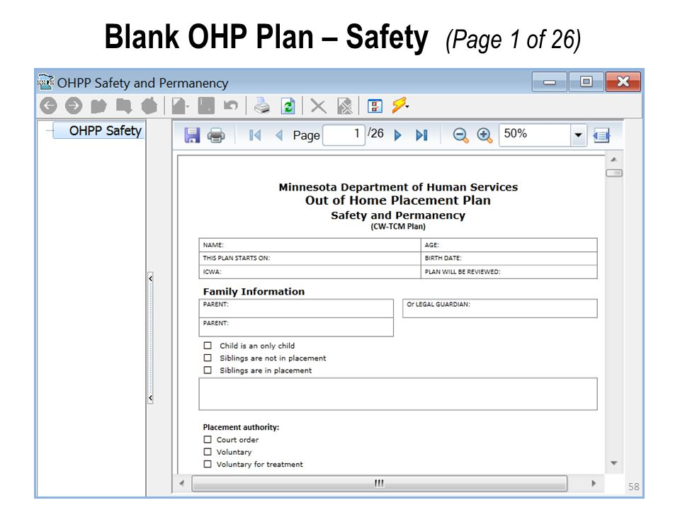 58 Blank OHP Plan – Safety (Page 1 of 26)