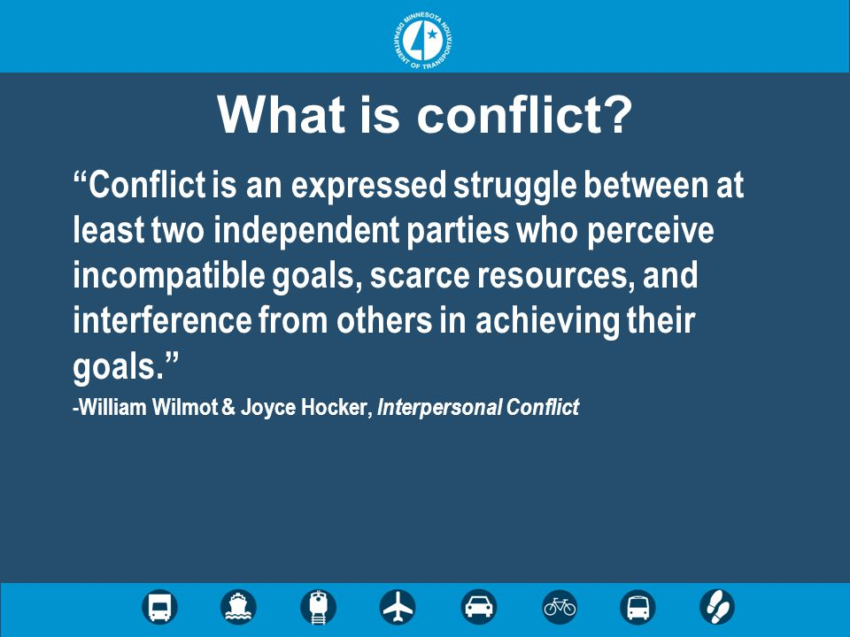 Step 8: Conflict review Reflective state Some conflicts resolved Reevaluate existing conflicts Regeneration of some conflict Emergence of other stakeholders and issues Return to steps 2-7 (?)