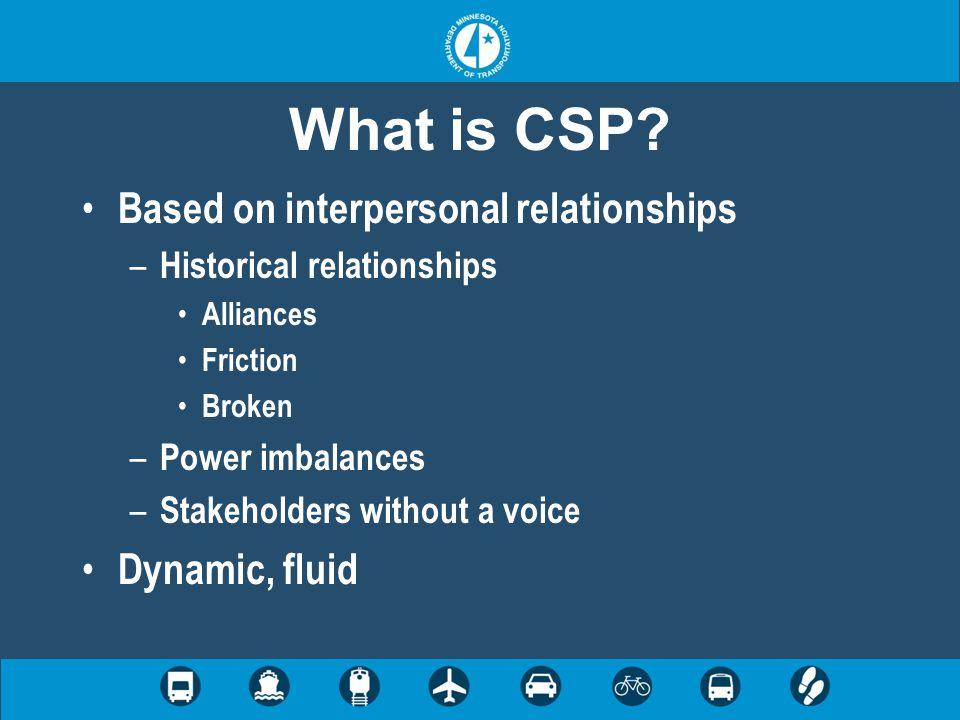 Why create CSP.