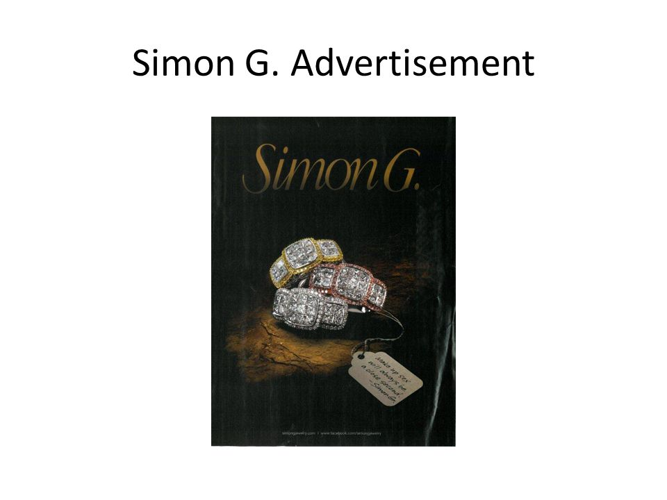 Simon G. Advertisement