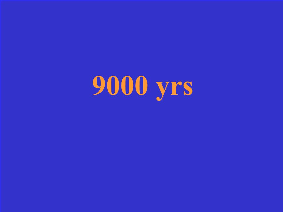 The original amount is 10 g and you have 2.5 left How old is the fossil if half life is 4500 yrs