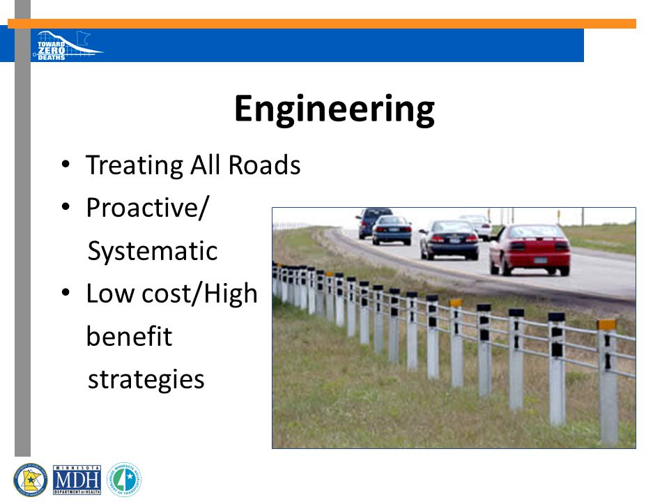 Engineering Treating All Roads Proactive/ Systematic Low cost/High benefit strategies