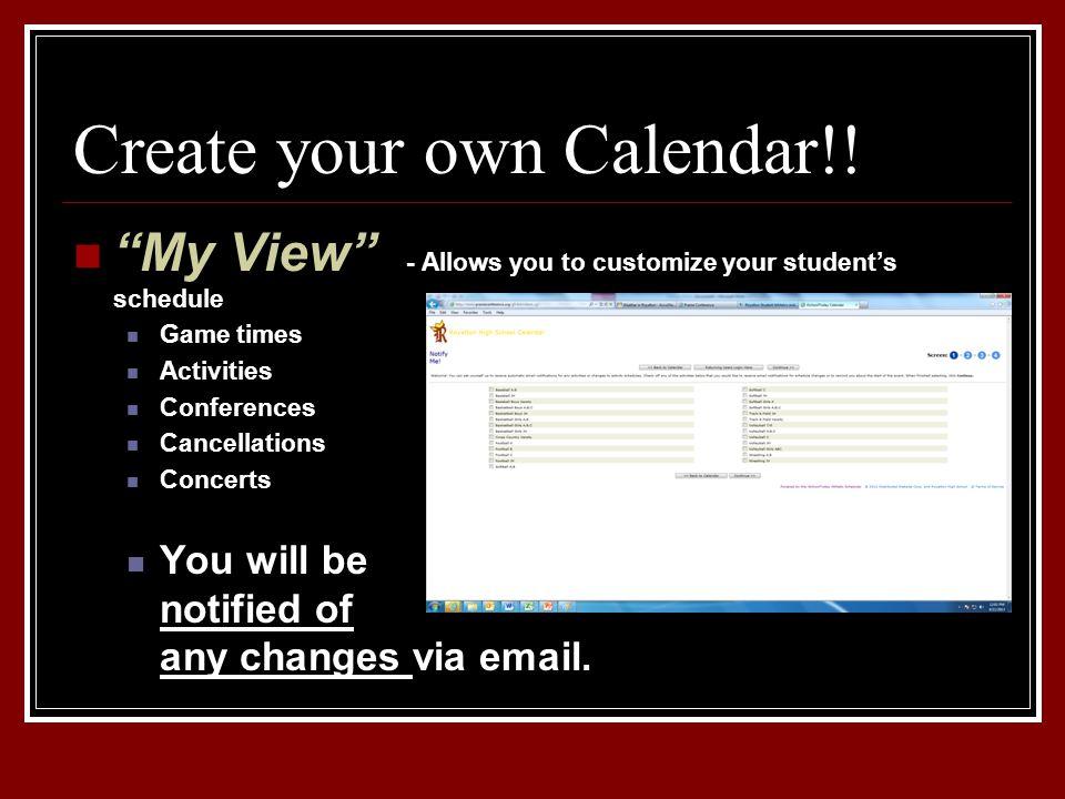 Create your own Calendar!.