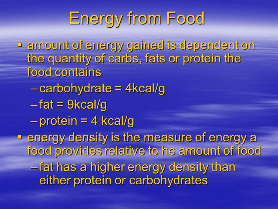 Measuring Energy  measured in kCalories (kilocalorie) –in popular literature it is abbreviated as calories –thus a 50 calorie carrot is actually 50 k