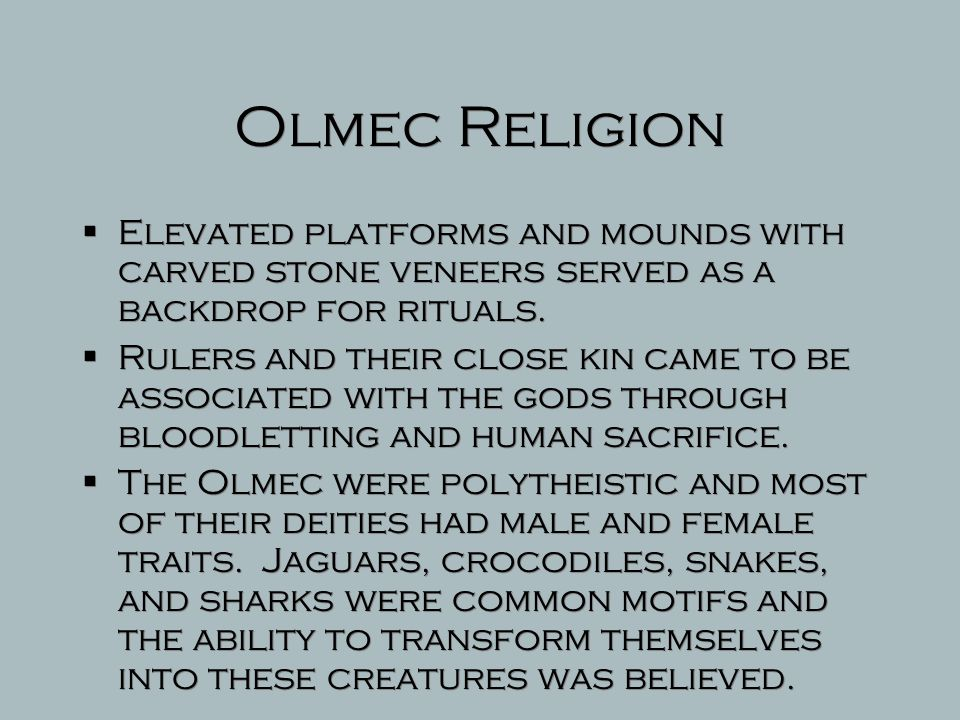 Olmec Society  Little is known about the Olmec political structure; However, there appears to be a hierarchy of elites and commoners.  The colossal