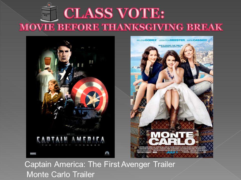 Captain America: The First Avenger Trailer Monte Carlo Trailer