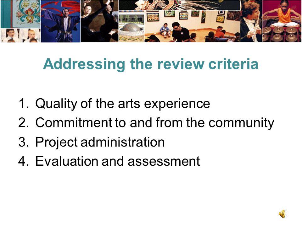 Narrative form Applicant background Project description Review criteria 17
