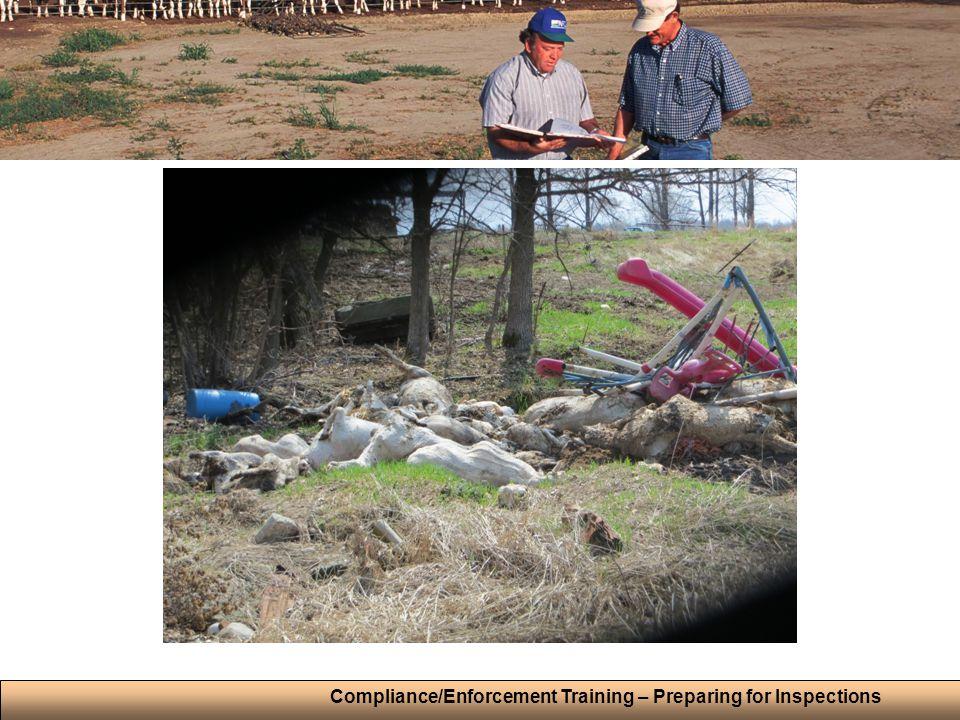 Compliance/Enforcement Training – Preparing for Inspections
